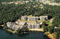 The condos at Lighthouse Cove in Lake Delton, Wisconsin