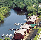 Sunset Cove condos include boat slips along the Wisconsin River in Wisconsin Dells.